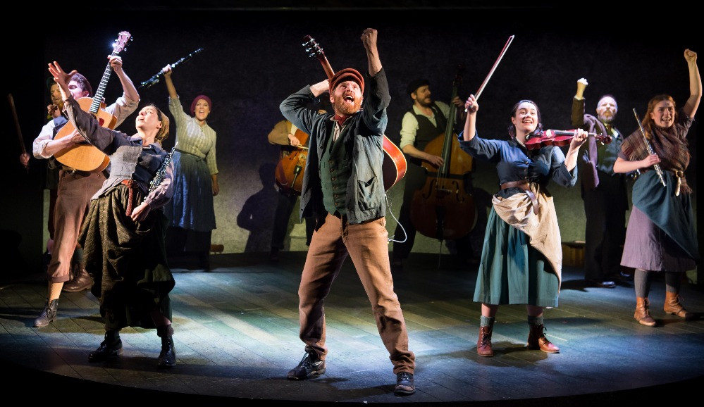 The cast of The Hired Man. Pic: Mark Sepple