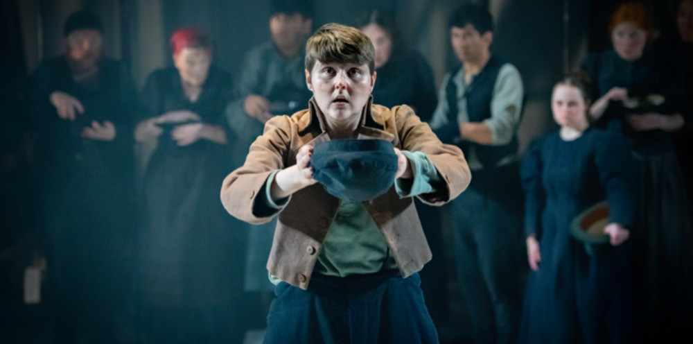 Brooklyn Melvin as Oliver in Oliver Twist. Pic: Anthony-Robling