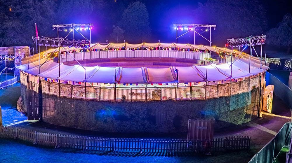 Grosvenor Park open air theatre - now under construction