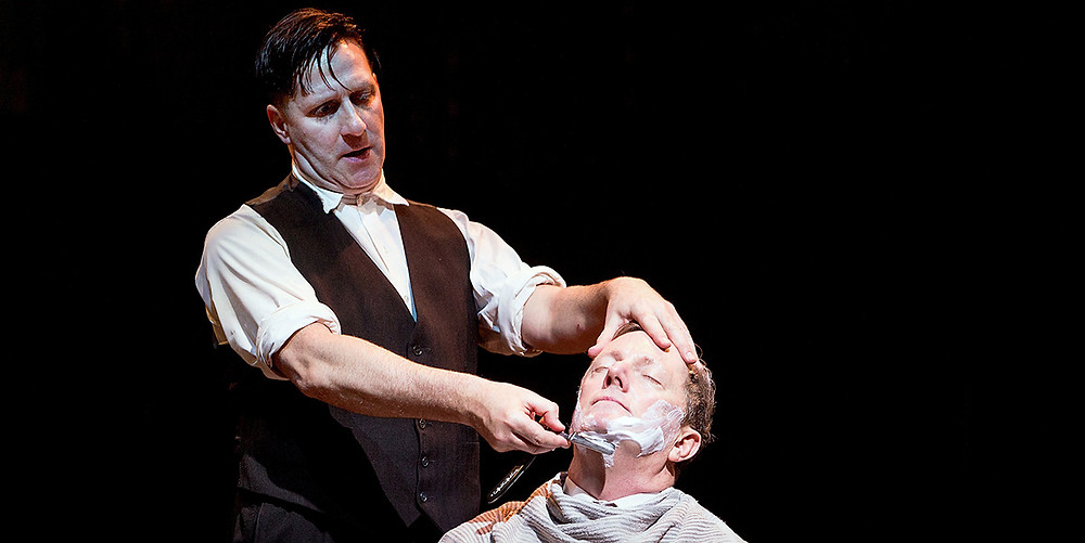 David Birrell as Todd & Don Gallagher as the Judge in Sweeney Todd in 2013. Picture by Jonathan Keenan