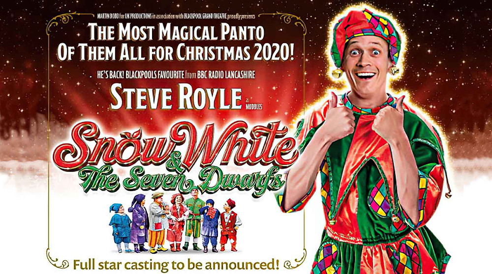 Steve Royle was to have starred in Blackpool Grand's Snow White, now moved to next Christmas