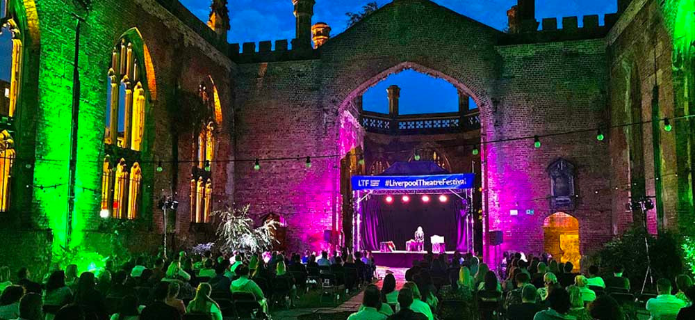 St Luke's Bombed Out Church - site of the festival, in Leece St, Liverpool 1