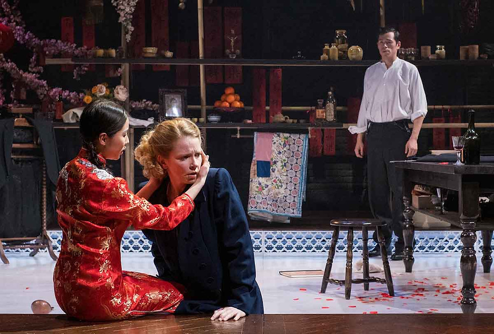 Jennifer Leong, Sophie Robinson and Leo Wan in Miss Julie. All pics: Mark McNulty