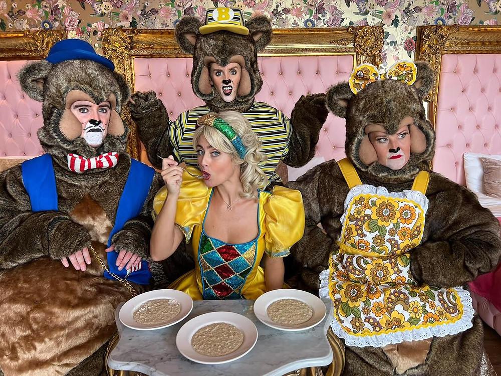 The cast of Goldilocks and the Three Bears