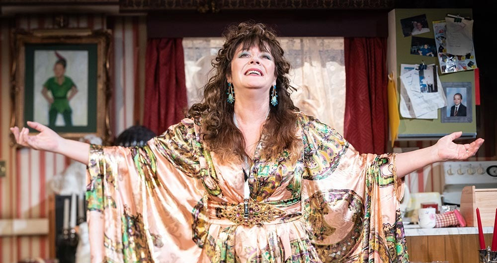 Josie Lawrence repeats her role in Our Lady of Blundellsands. Pic: Marc Brenner. Lower pics: Gary Calton