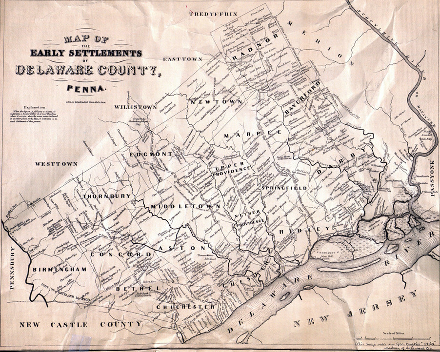 """1862 Map printed in George Smith's """"Hist"""