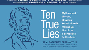 Feb. 15th Lecture with Renowned Lincoln Historian, Professor Allen Guelzo