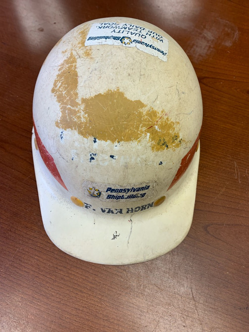 Sun Shipbuilding Hat owned by F. Van Horn
