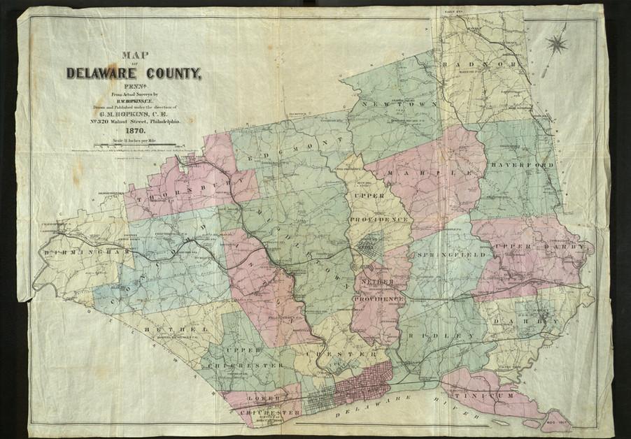 1870 Delco Map