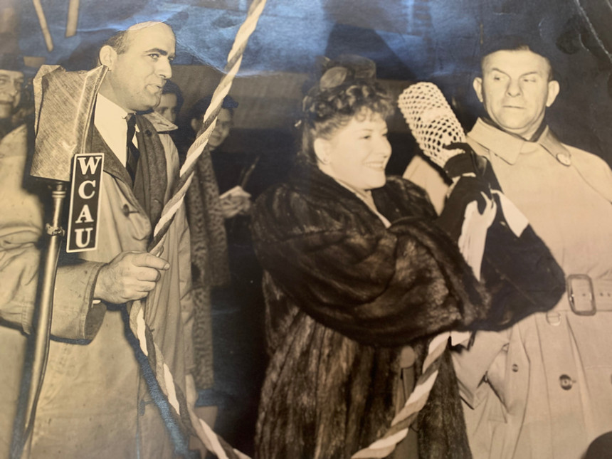 Gracie Albert and George Burns christening Sunship boat 1944