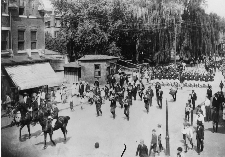 1882 Civil War parade in Media, PA