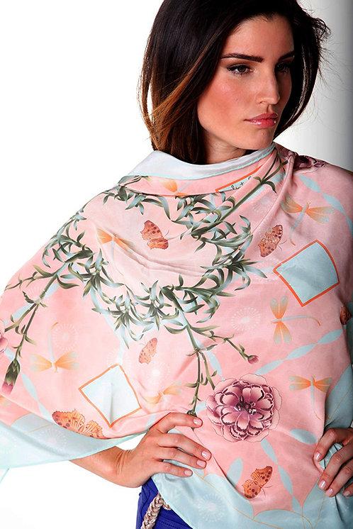 Juliet Pink - Square scarf