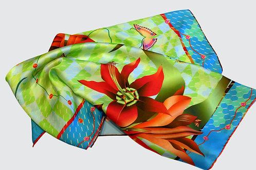 Amaryllis - Square scarf