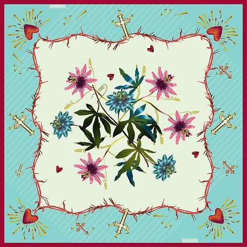 """Passiflora - green • 36"""" x 36"""""""