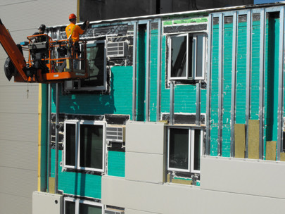 """Castle Square Apartments in the midst of the """"deep energy retrofit"""""""