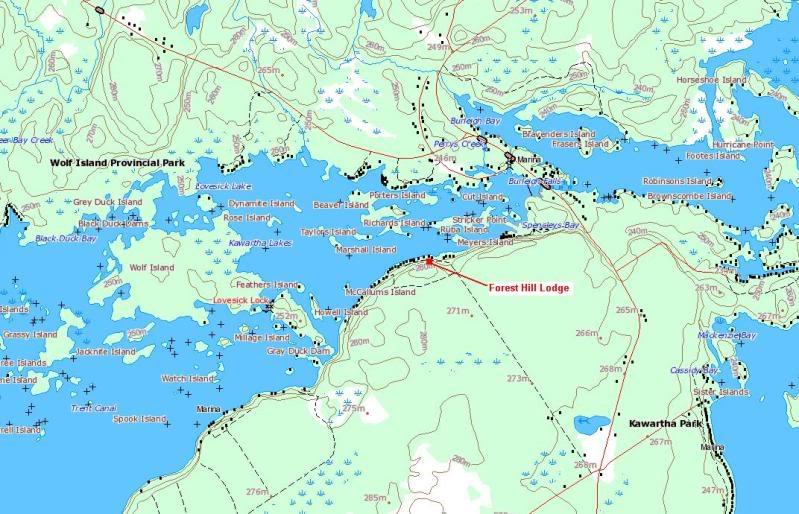 Lovesick Lake Ontario Aerial Map