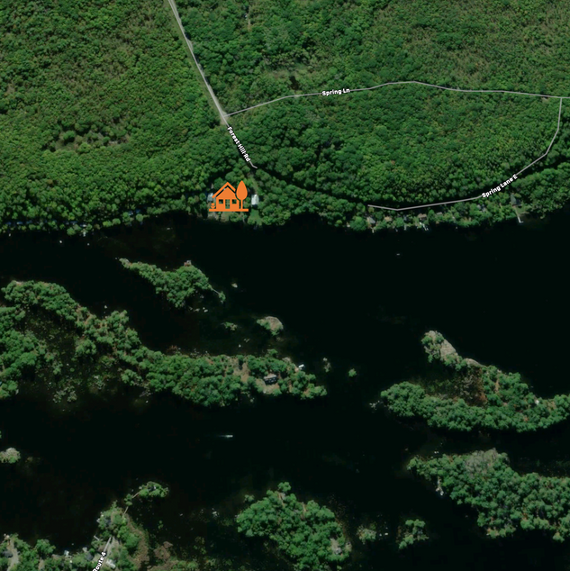 Facing South - Lovesick Lake Ontario Aerial Picture
