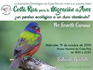 Costa Rica para la migración de aves ¿un paraíso ecológico o un duro obstáculo?