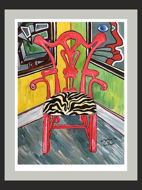 Red Georgian Chair fine art print