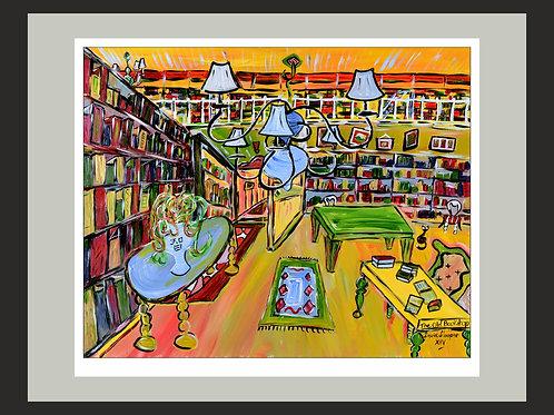 The Old Bookshop fine art print