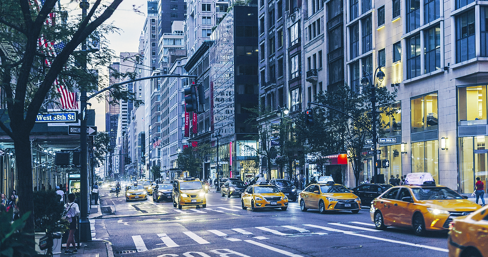 The Famous Yellow Cabs, NYC