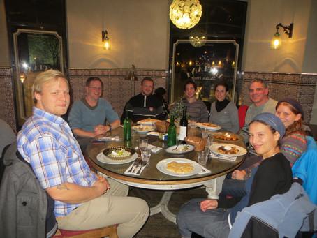 Group dinner, Jerusalem 26.11.14