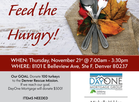 Come and help feed the hungry at the Annual Turkey Drive! Let's help meet the goal of 100 turkeys!