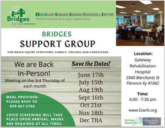 Bridges support group postcard screensho