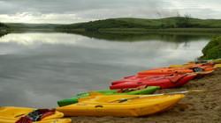 Kayaks in the lagoon