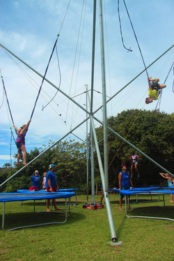 Four-station Bungee Trampoline
