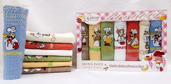 Турецкие кухонные полотенца(4шт*50*70см)