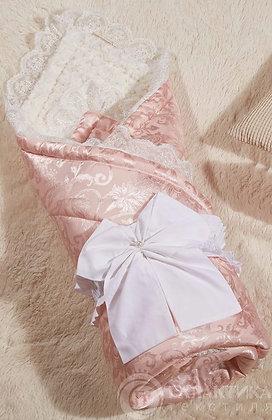 Одеяла Бамбини Кружево (пудра) 100х100см