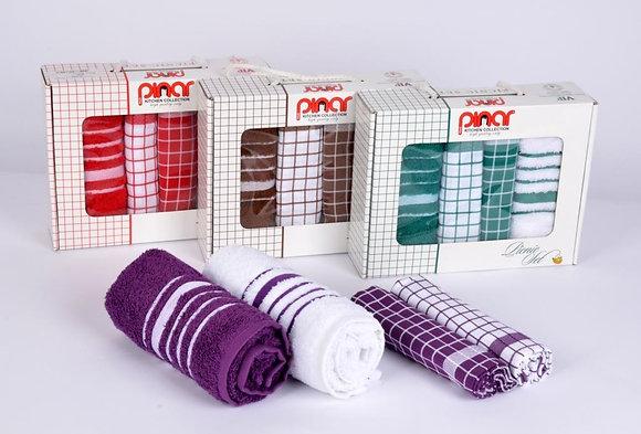 Турецкие кухонные полотенца(4шт*40*60см)