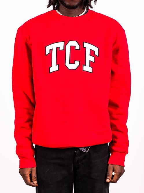 Red Collegiate Crewneck