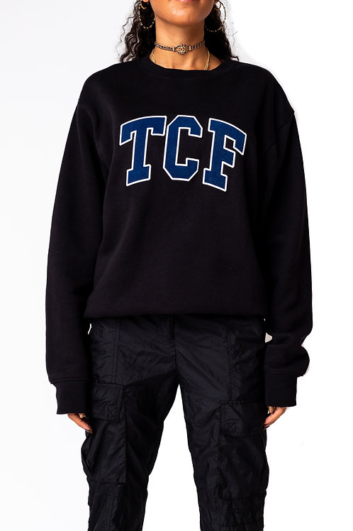 Black/Navy Collegiate Crewneck