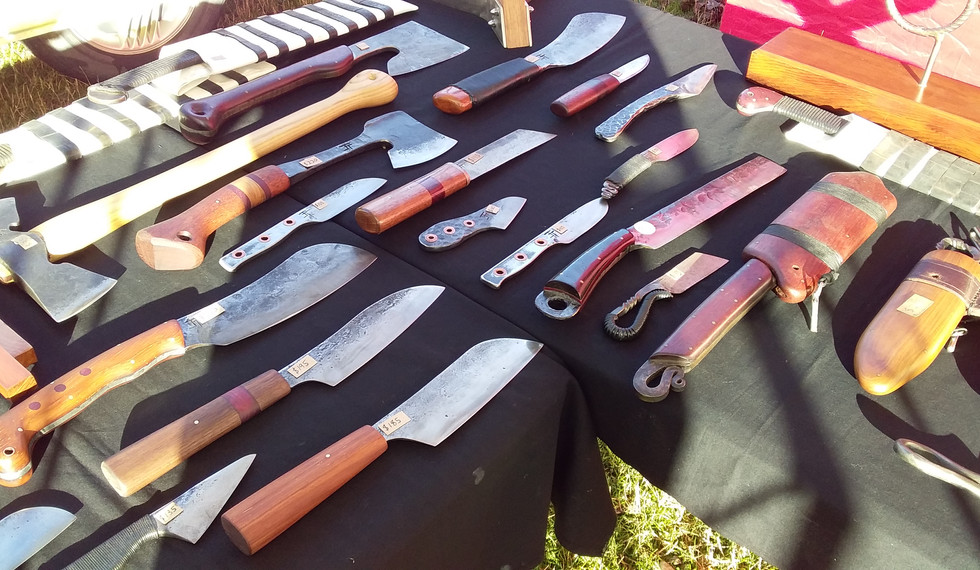 Knives on display