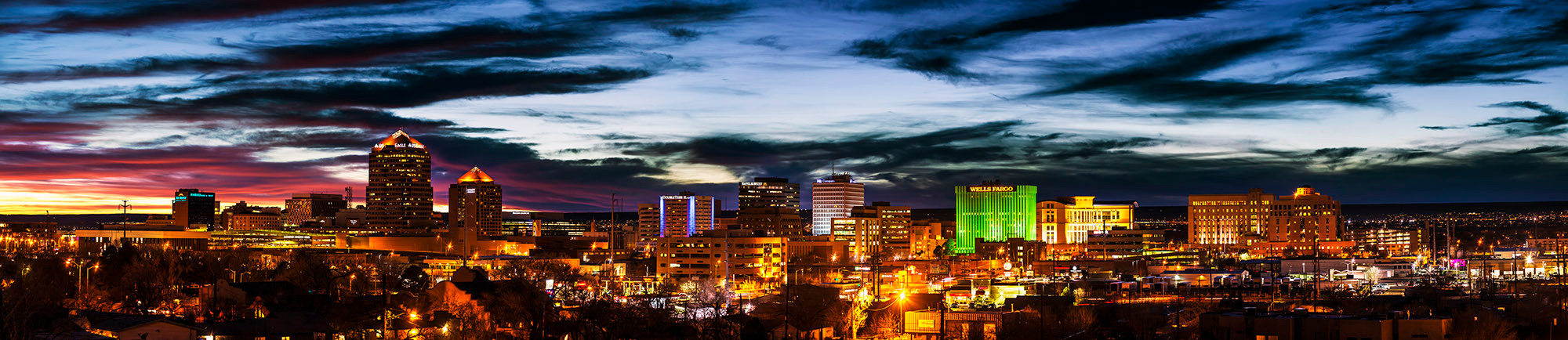 Downtown ABQ at night