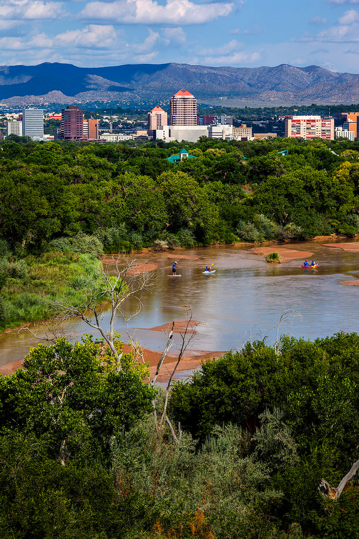 Downtown ABQ and River