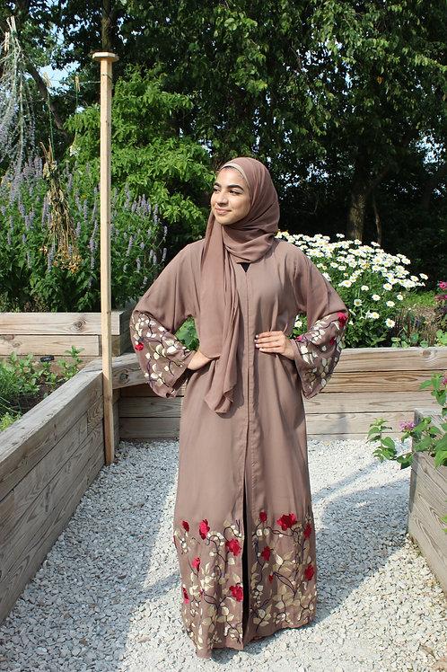 Hazel Flower Abaya