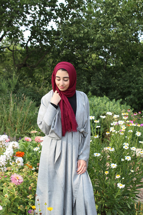 Jasmine Classic Grey Abaya