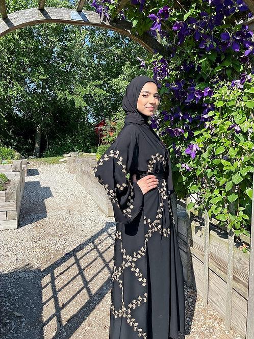 Golden Leaf Abaya