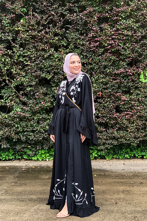 Midnight Rose Abaya