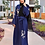 Thumbnail: Blue Iris Embroidered Abaya