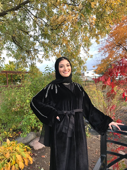 Velvet Vine Abaya