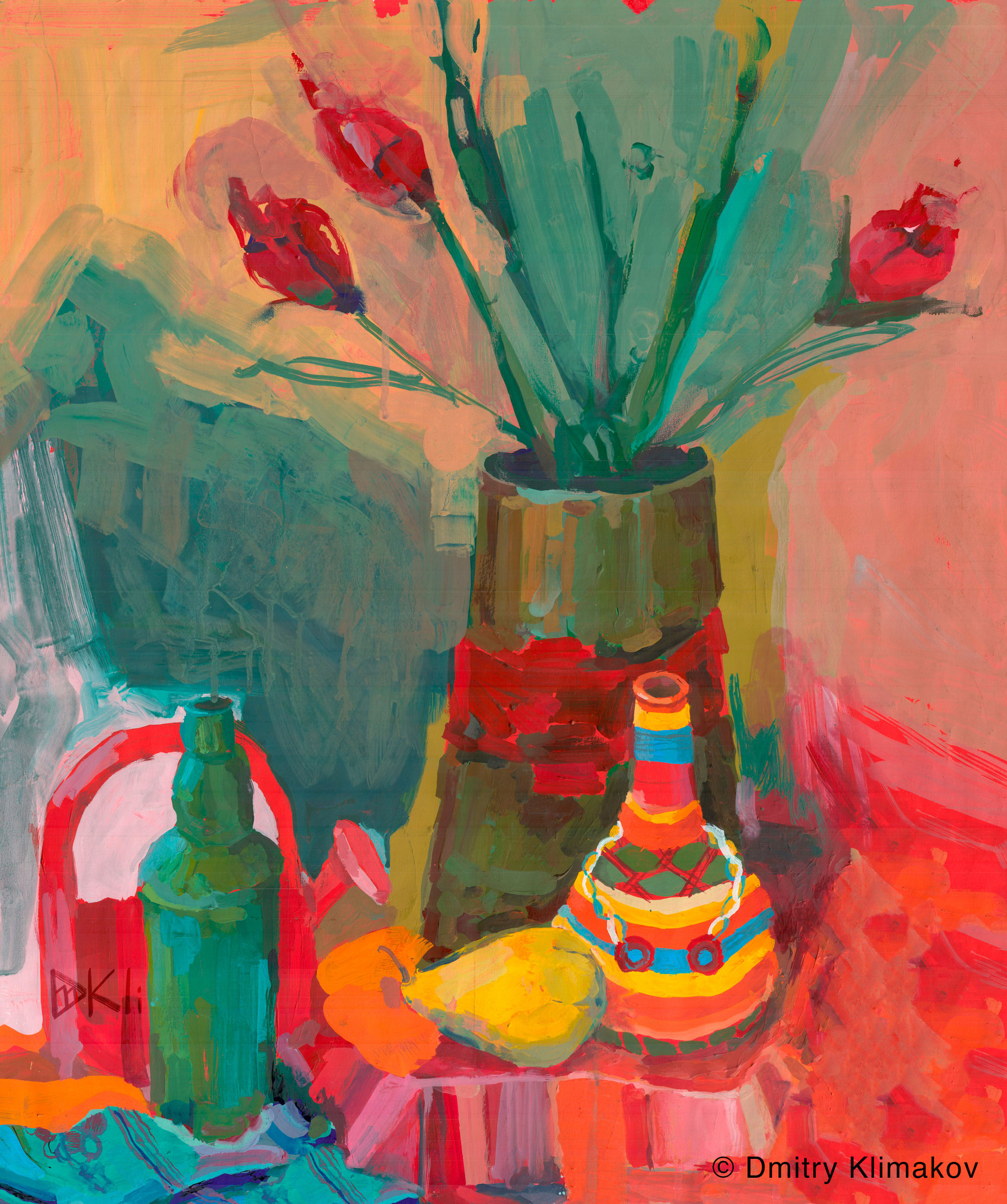 Still-Life (acrylic paint on paper).