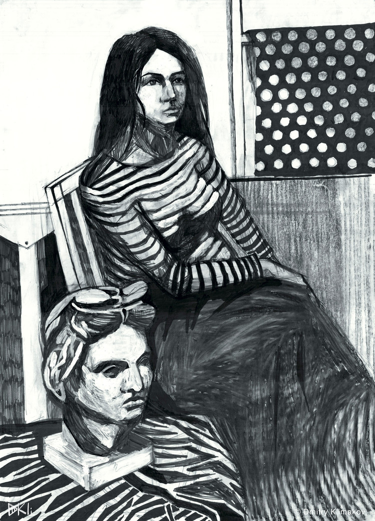 Macbeth (charcoal, felt pen & acrylic paint on paper).
