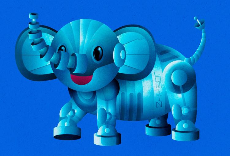 Robotic Elephant Kid