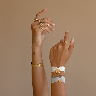 bracelets tissu et plaqué or.jpg