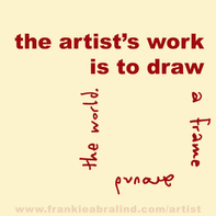 The artist's work