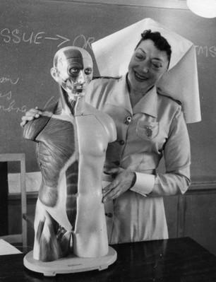 Mooroopna_Hospital_Turtor_Sister_c1950s.
